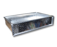 Madjax Aluminum Cargo Box - Fits Club Car, EZGO, & Yamaha Golf Carts (Brackets Included)