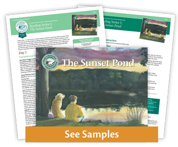 The Sunset Pond decodable book preview