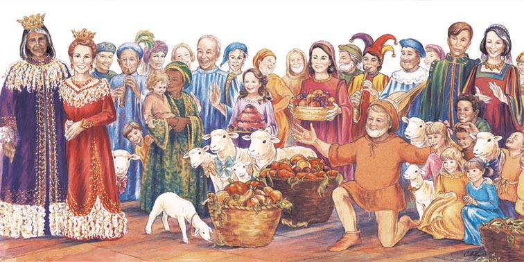 Shep the Sheep of Caladeen decodable book illustration