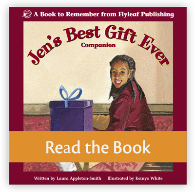 Jen's Best Gift Ever is one of our decodable books for emergent readers