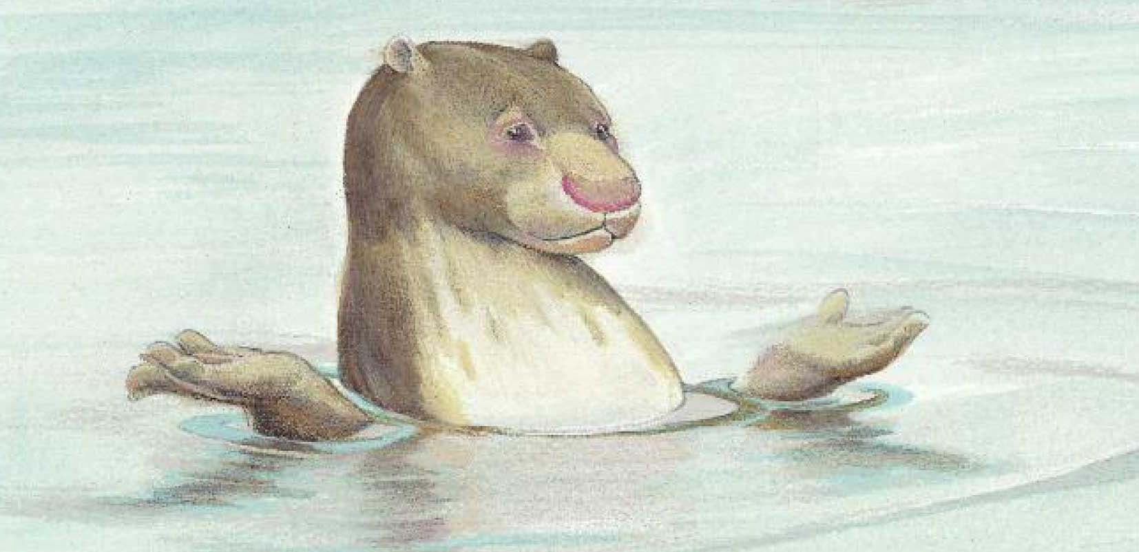 Otter character from Mister Mole's Stove decodable book