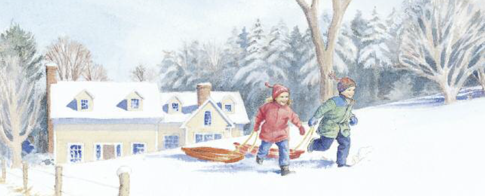 Meg and Jim's Sled Trip Illustration