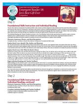 Emergent Reader Sample Teacher's Guide (1 title)