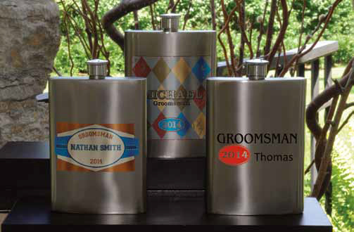 Personalized Flasks for Weddings