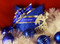 Customized ribbon with message in holiday colors