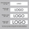 "7/8"" Custom Logo Satin Ribbon Logo Layouts"