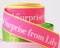 "Personalized Printed 7/8"" Neon Edge Ribbon"