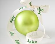 "Personalized 7/8"" Satin Christmas Ribbon"