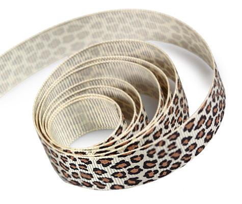 Grosgrain Leopard Ribbon