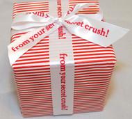 "Personalized Printed 1 1/2"" Satin Valentine Ribbon"