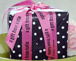 "7/8"" Personalized Printed Valentine's Day Ribbon"