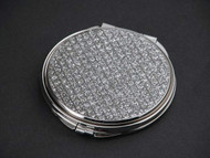 Personalized All That Glitters Nickel Plated Round Compact Mirror