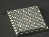 Personalized All That Glitters Nickel Plated Square Compact with 2 Mirrors