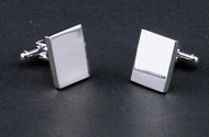 Personalized Silver Plated Square Cuff Links