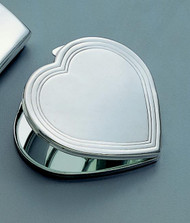 Personalized Silhouette Heart Compact Mirror