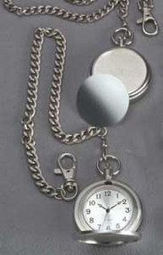 "Personalized Pocket Watch with 12"" Chain and 2"" Diameter Face"