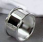 Personalized Set of 4 Nickel Plated Napkin Rings with Rolled Edges