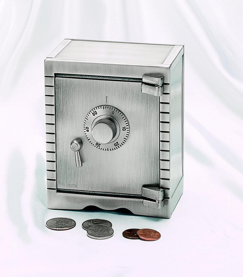 Personalized Brushed Vault Bank with Pewter Finish