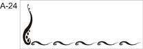 Personalized Woven Label - Half Swirls Border