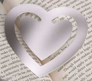 """Personalized 3.5"""" Large Heart Bookmark"""