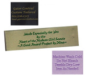 Personalized Fabric Clothing Label - 4 Line Layout