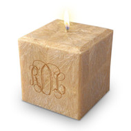 "3"" 100% Palm Wax Monogram Candle"