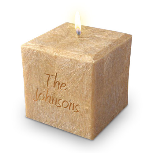 """4"""" 100% Palm Wax Name and Phrase Candle"""