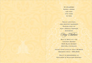 Yellow and Charcoal Wedding Dress Invitation