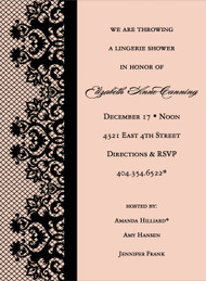 Peach Lace Invitation