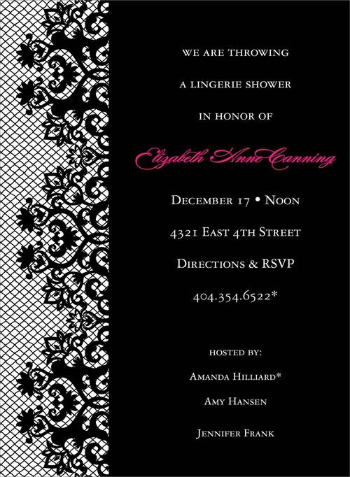 Black Lace Invitation