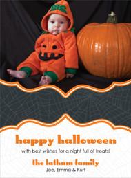 Spider Web Halloween Photo Card
