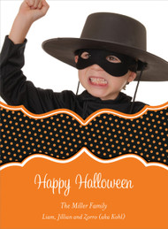 Polka Dots Halloween Photo Card
