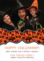 Spooky Halloween Photo Card