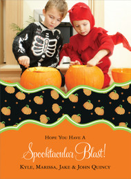 Pumpkin Halloween Photo Card