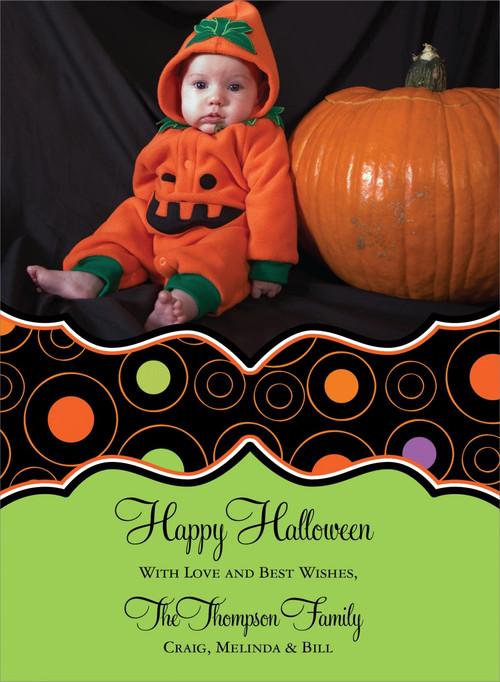 Circle Halloween Photo Card