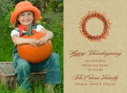 Autumn Wreath Photo Card