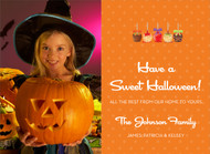 Candy Apple Halloween Photo Card