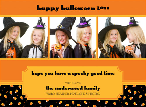 Candy Corn Halloween Photo Card