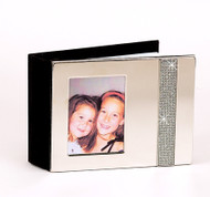 Personalized Nickel Plated All That Glitters Photo Album with Frame Cover