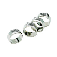 Personalized Nickel Plated Set of 4 All That Glitters Napkin Rings