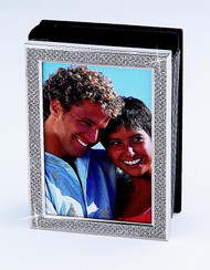 Vertical Nickel Plated All That Glitters Photo Album