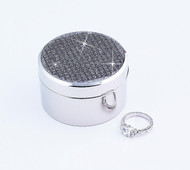 Nickel Plated All That Glitters Round Box