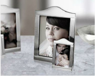 Silver Plated Wave Top Picture Frame