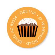 Cupcake Halloween Sticker