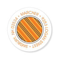 Striped Halloween Stickers