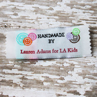 Clothing Label - Buttons - Handmade by