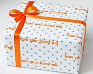 Blue Polka Dot Gift Wrap