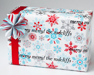 Colorful Snowflake Gift Wrap
