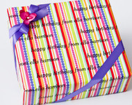 Colorful Stripes and Dots Gift Wrap
