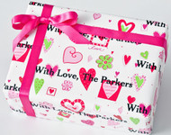 Hearts and Flowers Gift Wrap